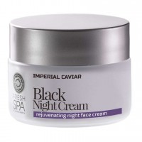 Čierny omladzujúci pleťový nočný krém na tvár Imperial Caviar