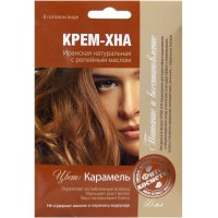 Krémová Henna Karamel s lopúchovým olejom 50ml
