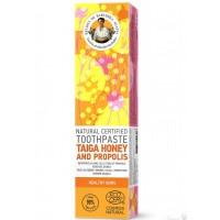Prírodná zubná pasta Med z Tajgy a Propolis pre zdravé ďasná